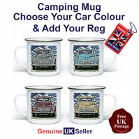 Morris Minor Mug, Camping Mug, Hiking Mug, Fishing Mug, Outdoor Mug,