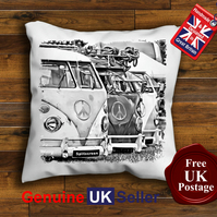 VW Campervan Cushion Cover, Campervan Cushion Cover, Handmade16 Inch