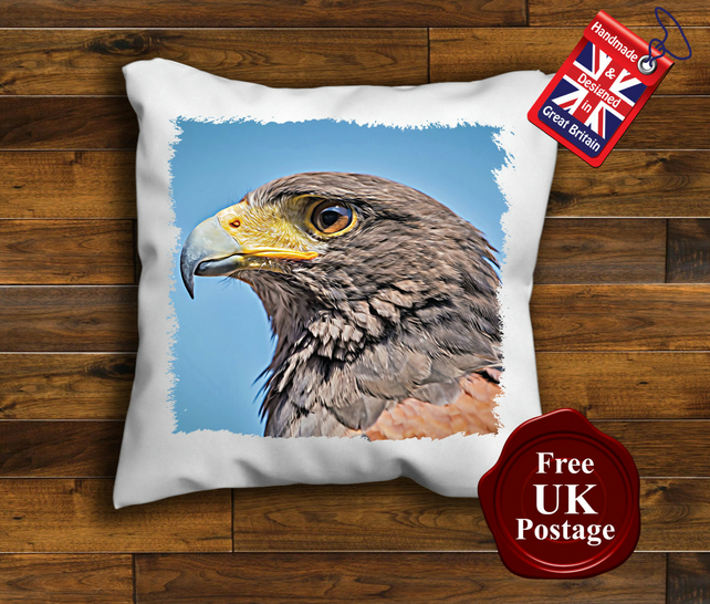 Eagle Cushion Cover, Eagle Cushion, Choose Your Size Handmade