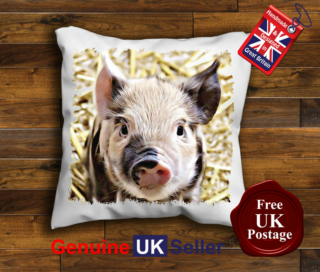 Pig Cushion Cover, Baby Pig Cushion, Choose Your Size Handmade