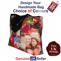 Personalised Tote Bag Handmade Photo Bag, Personalised Bag, Create Your Own Bag,