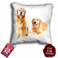 Retriever Cushion Cover, Golden Dog Cover,