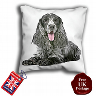 Blue Roan Cocker Spaniel Cushion Cover,