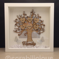 Scrabble Art - Family Tree