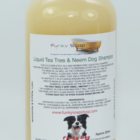 1 Bottle of 250ml Liquid Tea Tree And Neem Oil Dog Shampoo