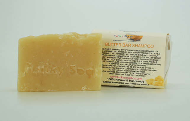 1 piece Butter Bar Shampoo & Conditioner 100% Natural Handmade 65g