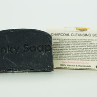 1 piece Bamboo Charcoal Cleansing Soap Bar, 100% Natural Handmade, 65g