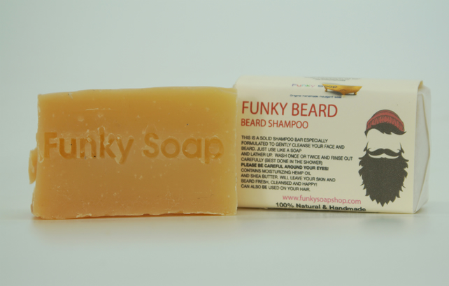 1 piece Beard & Body Shampoo 100% Natural Handmade aprox.65g