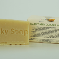 1 piece Tea Tree & Neem Oil Dog Shampoo 100% Natural Handmade 65g