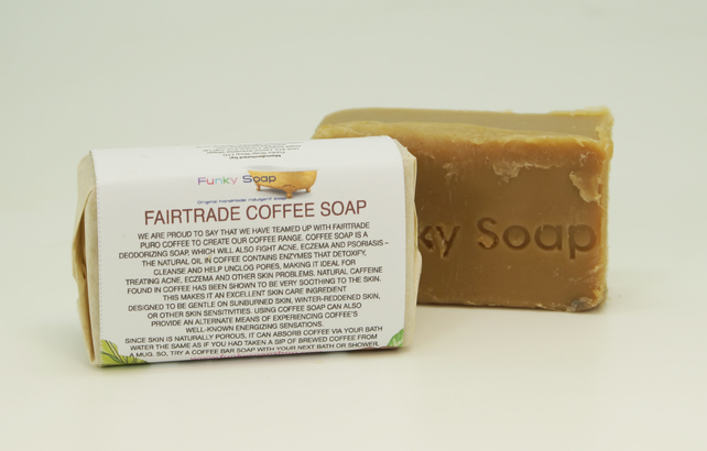 1 piece of Fairtrade Coffee Soap, natural handmade 65g