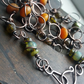 Arianne - Hand Wrapped and Forged Copper and Czech Glass Bead Necklace