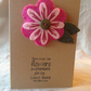 A6 kraft card with hand made brooch in Harris Tweed and felt