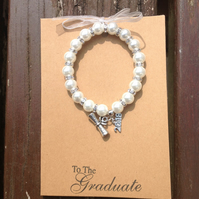 Bracelet on a card for a new graduate