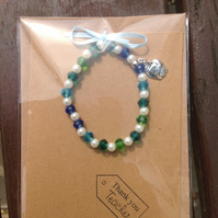 Bracelet on a card for a teacher.