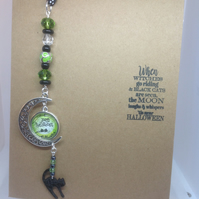 Hand made Hallowe'en themed sun catcher in a greetings card