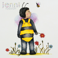 A4 Giclee Print - Gabriel and Busby The Bumble Bee