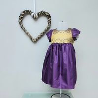 9-12 month Baby Girl Dress, Infant Party Wear,  'Felicity' Occasion Dress.