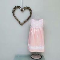 9-12 months Baby Girl Summer Dress.Child Pink Dress. Infant Party Dress.