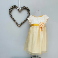 12-18months Baby Girl Summer Dress, Child Party Dress, Infant Wedding Wear.