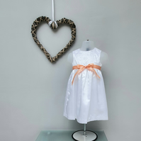 9-12 months Snow White Dress. Child Summer Dress. Infant Wedding Wear.