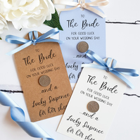 Sixpence Gift for Bride. Bridal Shower, Hen Party, Engagement Gift.