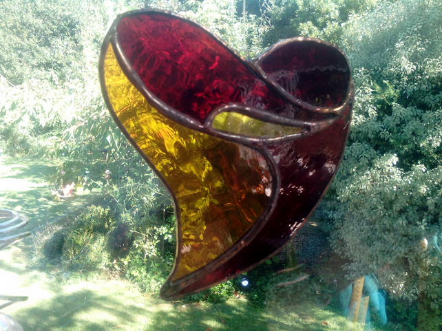 STAINED GLASS HEART   SOLD. Order one like this