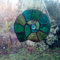 Stained glass Ammonite