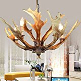 Vintage Style Resin Deer Horn Antler Chandeliers,5 Lights