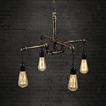 Pendant Light Industrial Vintage Metal Pipe Pendant Loft Style Ceiling Lamp