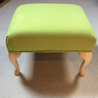 Bright green footstool