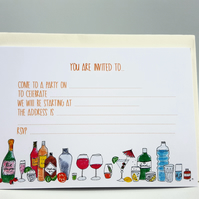 Party Invitations, drinks invites