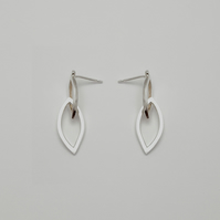 Gabriela by Fedha - double marquise-shaped sterling silver dangle earrings