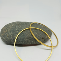 Juanita by Fedha - understated 24 carat gold-plated silver bangle