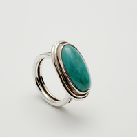 Ximena by Fedha - silver and turquoise statement cocktail ring