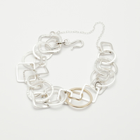 Albaicin by Fedha - organic collection of hand-forged silver and gold links