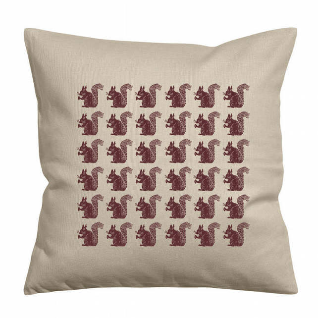 Repeat Squirrels Cushion Cover