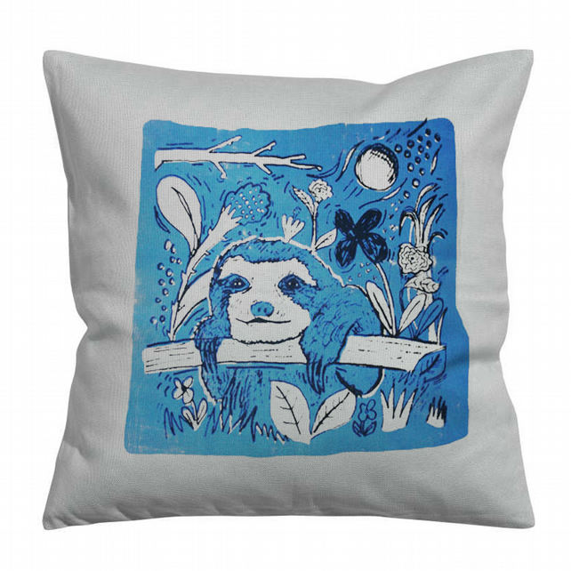 Sloth Screen Printed Cushion Cover