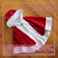 Santa Cape Cloak Christmas Xmas Robe Costume