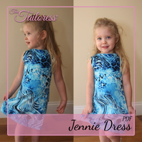 7-14 YRS - PDF Sewing Pattern Jennie Dress Vest Top Girls
