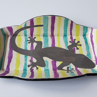 Fun Geko Print Ceramic Serving Platter