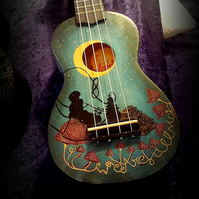 Alice in Wonderland, Handpainted Ukulele