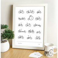 Bicycle Digital Print - Types of Bicycles