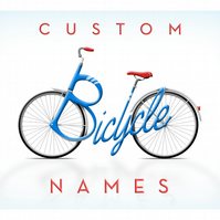 Personalised Bicycle Name Print
