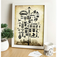 Edinburgh Signs Art Print