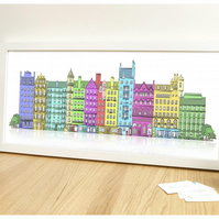 Edinburgh Tenements Print
