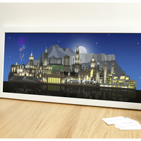 Edinburgh Skyline Print - Edinburgh at Night