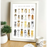 British Dog Breeds - Print