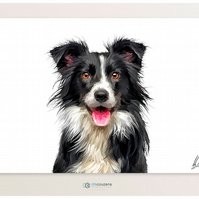 Dog Painting, Border Collie, Sheepdog, Collie, Dog Art