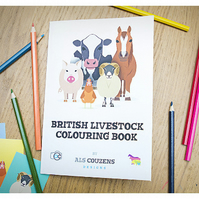 Colouring Book, Farm Animals Colouring Book, Kids Gift, Illustrated Colouring bo