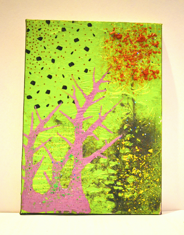 New Original Bright Gothic Psychedelic Wall Art Gift,Modern Tree Home Decor Gift
